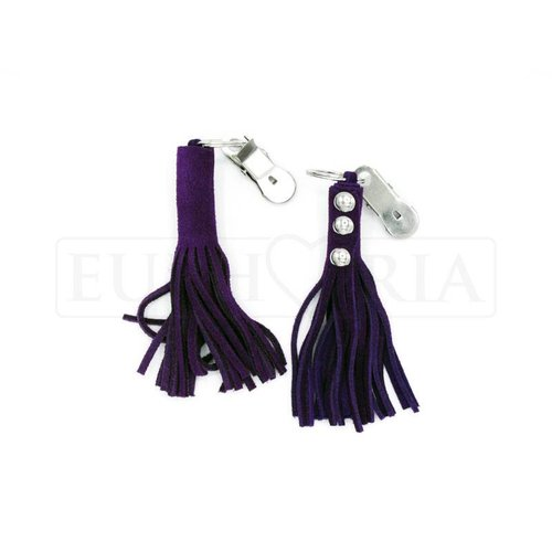 Rimba Nipple clamps with Leather Whips