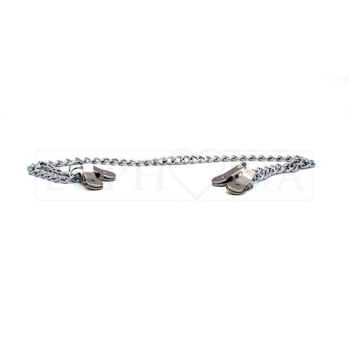 Rimba Metal Nipple and Labia-clamps on a chain