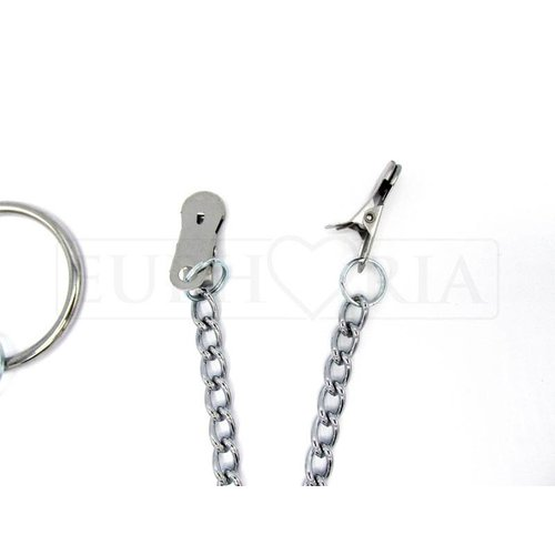 Rimba Nipple Clamps with cockring and chain - ø 50 mm