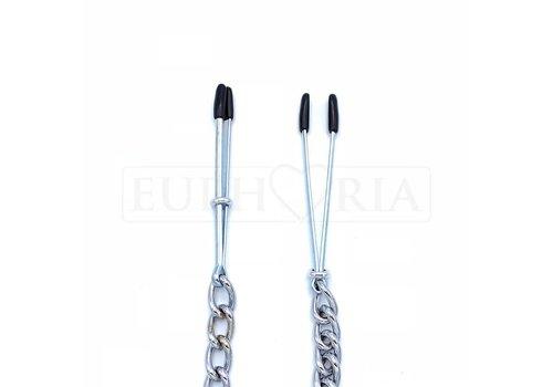 Rimba Tweezer Nipple clamps with chain