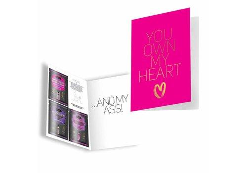 KamaSutra You Own My Heart - Erotic greeting card