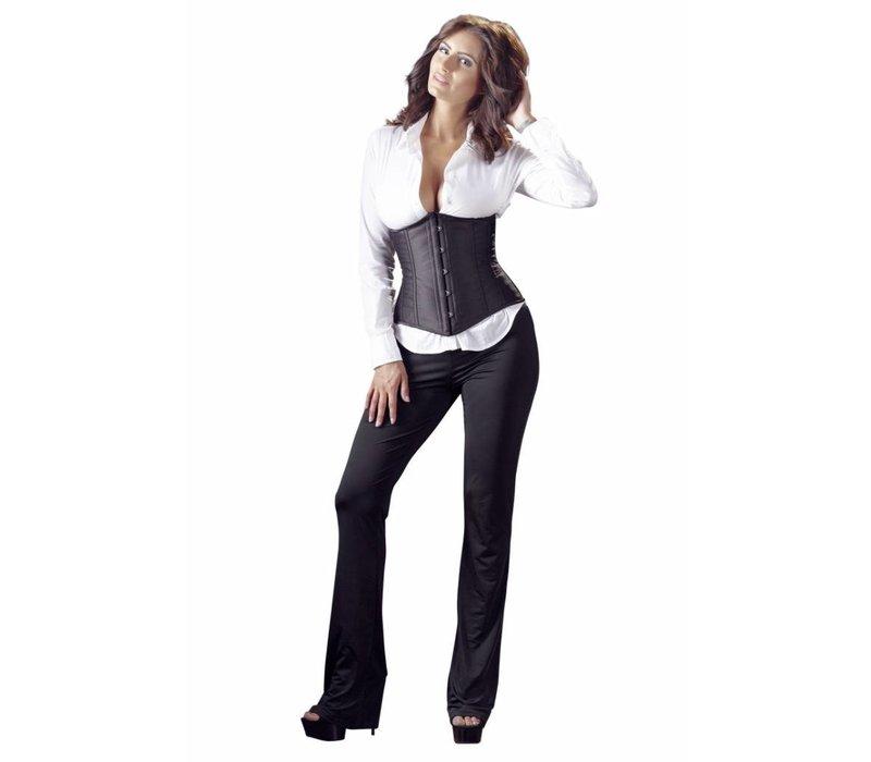 corset noir sans tasses - crochet de fermeture