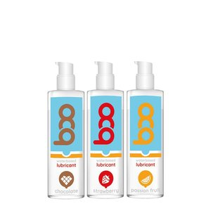 Gift set of 3 flavored lubricants