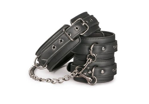 EasyToys Collar with ankle cuffs & chain