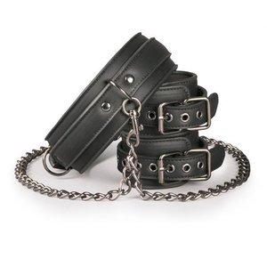EasyToys Sturdy collar with handcuffs and chain