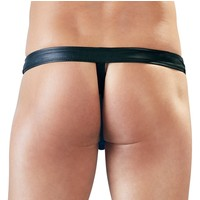 Defiant black and blue men's thong