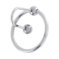 Stainless Steel Sperm stopper wit Glansring - 28 or 30 mm