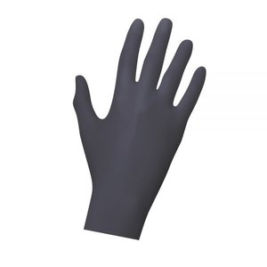 Gants en latex noirs - jetables 20 pièces