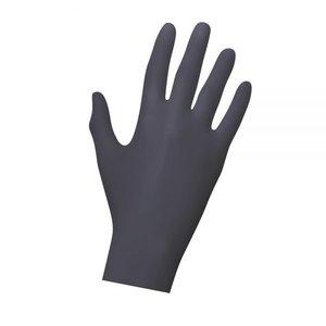 Zwarte Latex wegwerphandschoenen 20st
