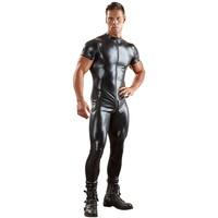 Men's jumpsuit - short sleeves, long legs