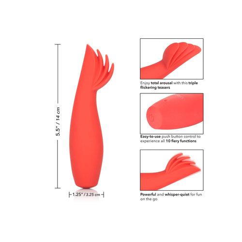 CalExotics Red Hot Blaze - Vibrator met 3 stimulerende tongetjes