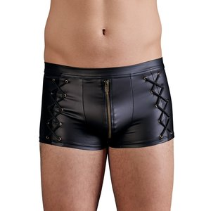 NEK Matte black men's short with zipper and laces on the sides