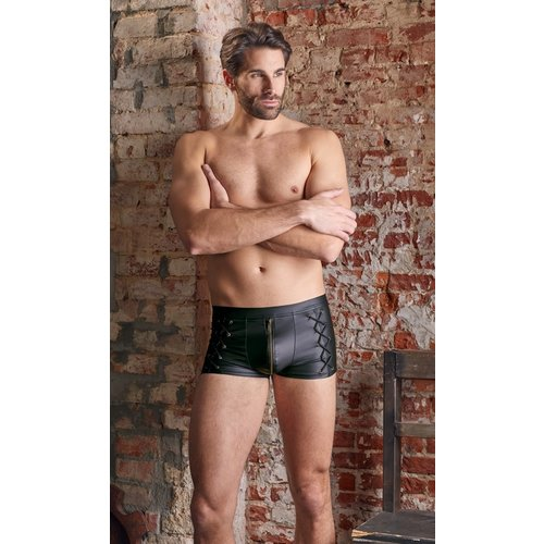 NEK Matte black NEK men's short with zipper and laces on the sides
