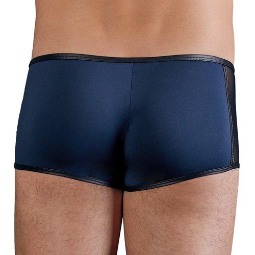 NEK Dark blue Microfiber men's short with press studs and zipper