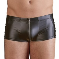 Trendy men's short with zipper
