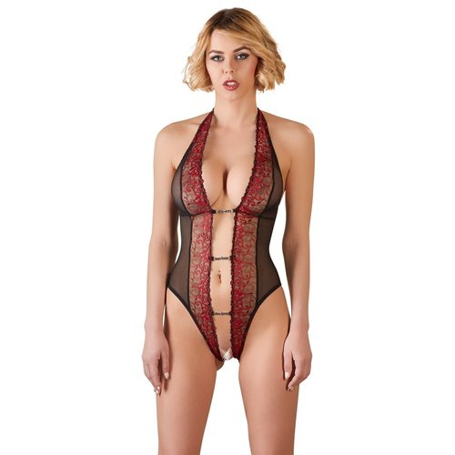 Abierta Fina Semi-transparent body with open crotch and open back