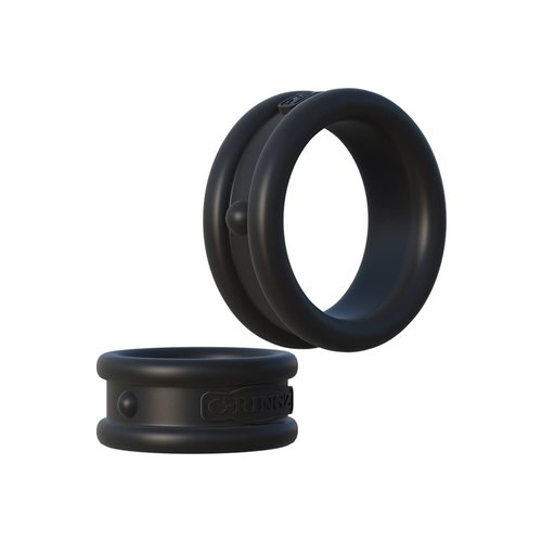 Pipedream Max Width Silicone Rings Black