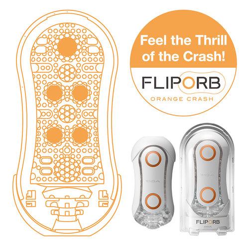Tenga Tenga Flip Orb - Blue Rush and Orange Crash