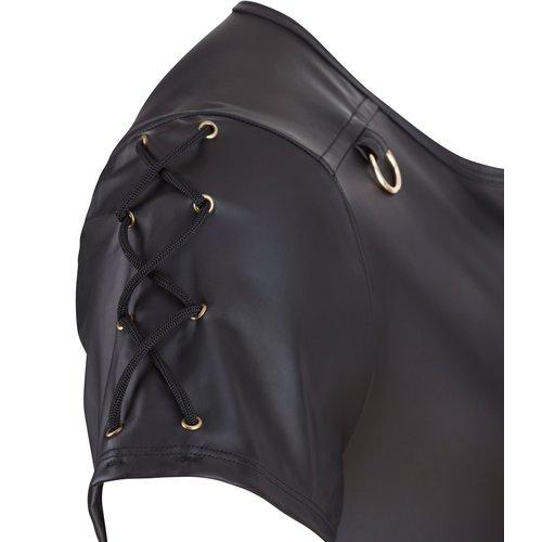 NEK Matte black Men's shirt with zipper
