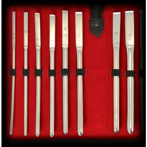 8-piece Stainless Steel Hegar Sounding Set 5-12 mm in beautiful case