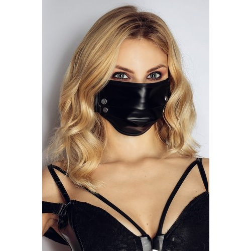 Noir Handmade Black Face Mask with Studs - Handmade