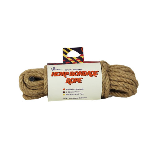 Hemp Bondage Rope - 10 Meter