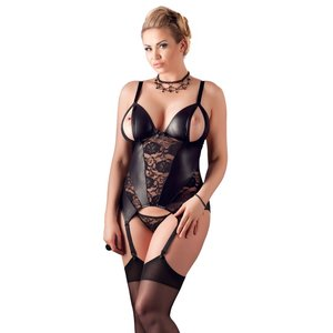 Cottelli Collection Cami Suspender Set Cottelli Curves