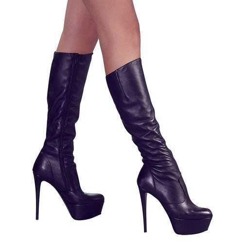 Cottelli Collection Leatherlook Boots with Stiletto heel and platform sole