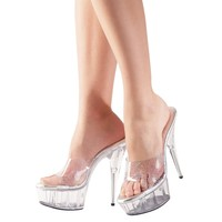 Transparent High Heel Sandals with platform