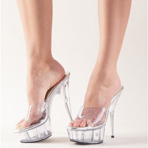 Cottelli Collection Transparent High Heel Sandals with platform