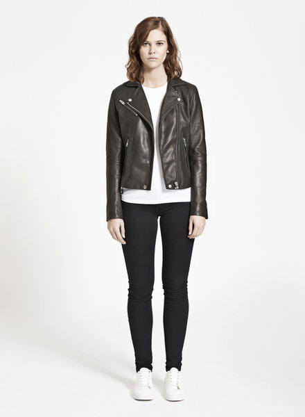 SAMSOE&SAMSOE duris leather jacket Samsoe Samsoe