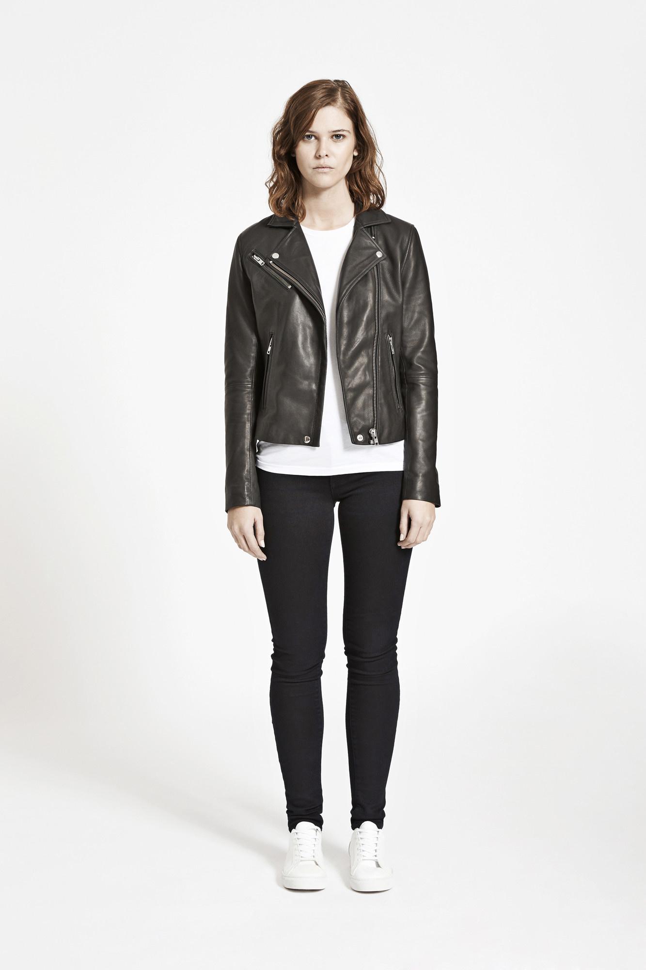 duris leather jacket Samsoe Samsoe-1