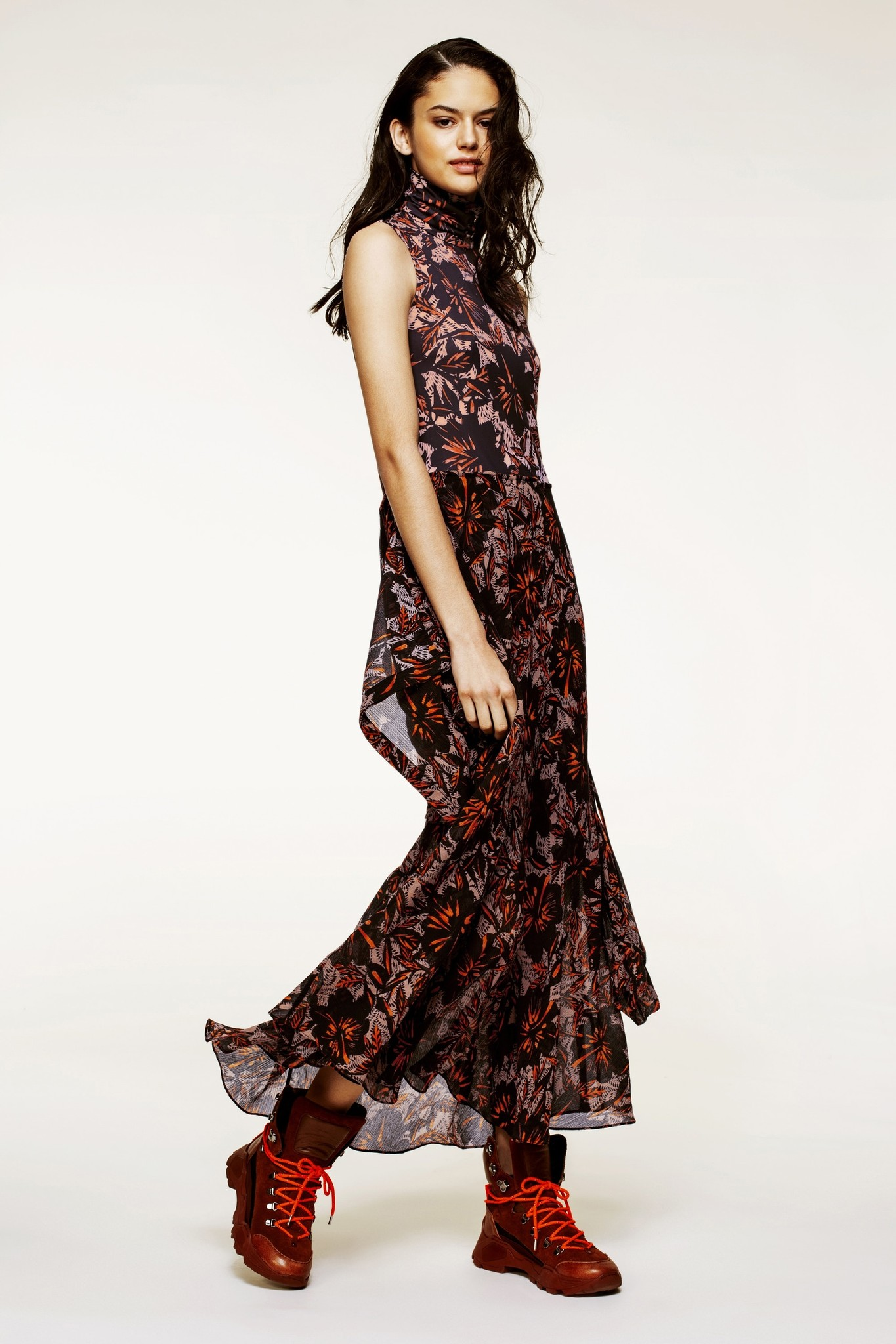 Exotic flowering dress-2
