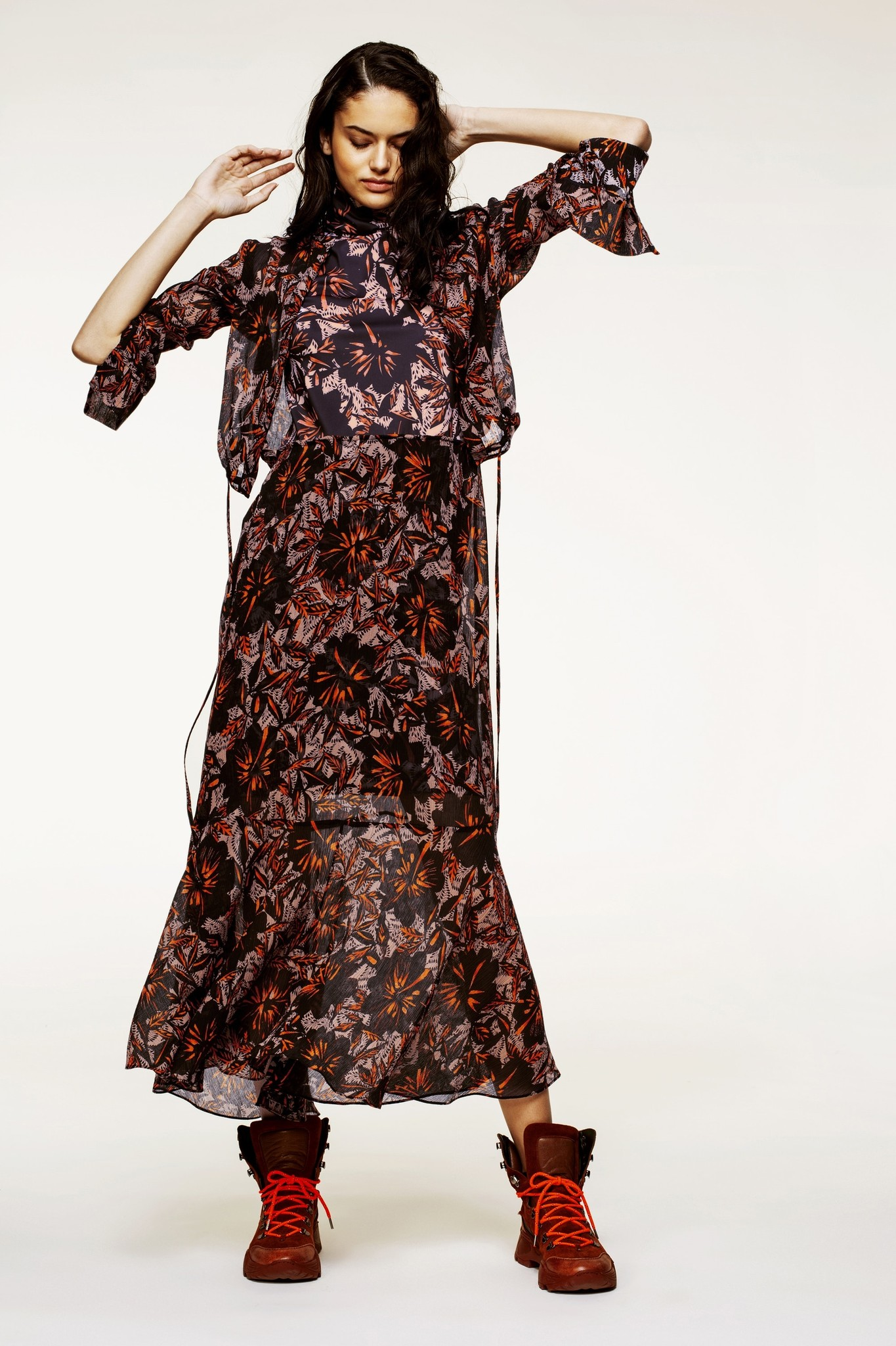 Exotic flowering dress-4