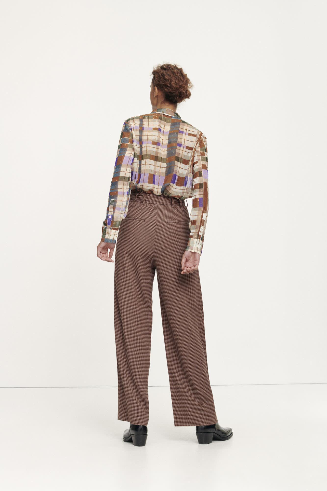 Nellie trousers argan check samsoe samsoe-1