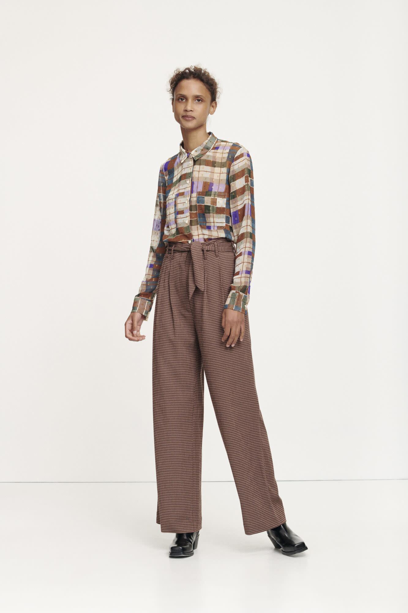 Nellie trousers argan check samsoe samsoe-3