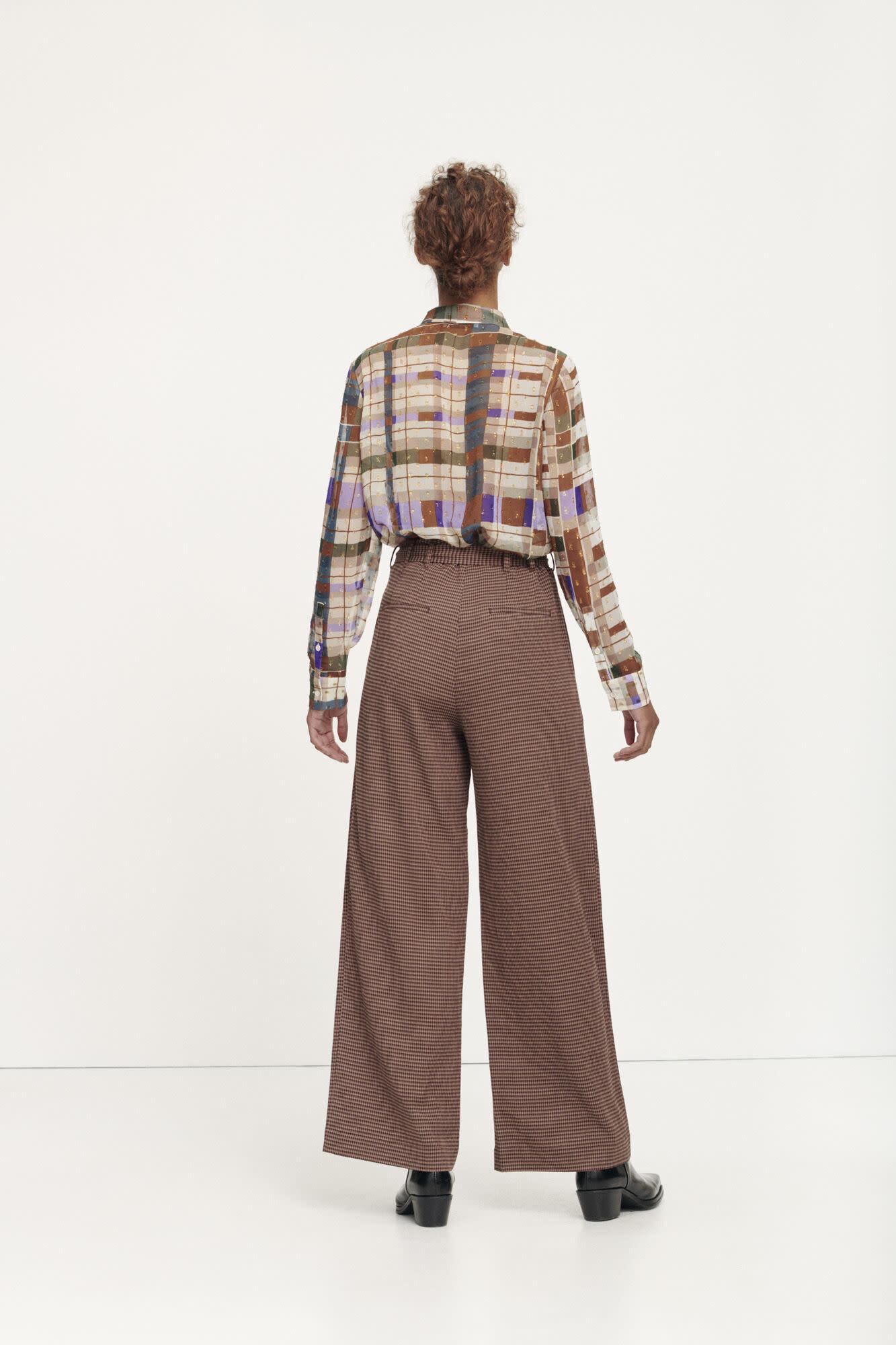 Nellie trousers argan check samsoe samsoe-4