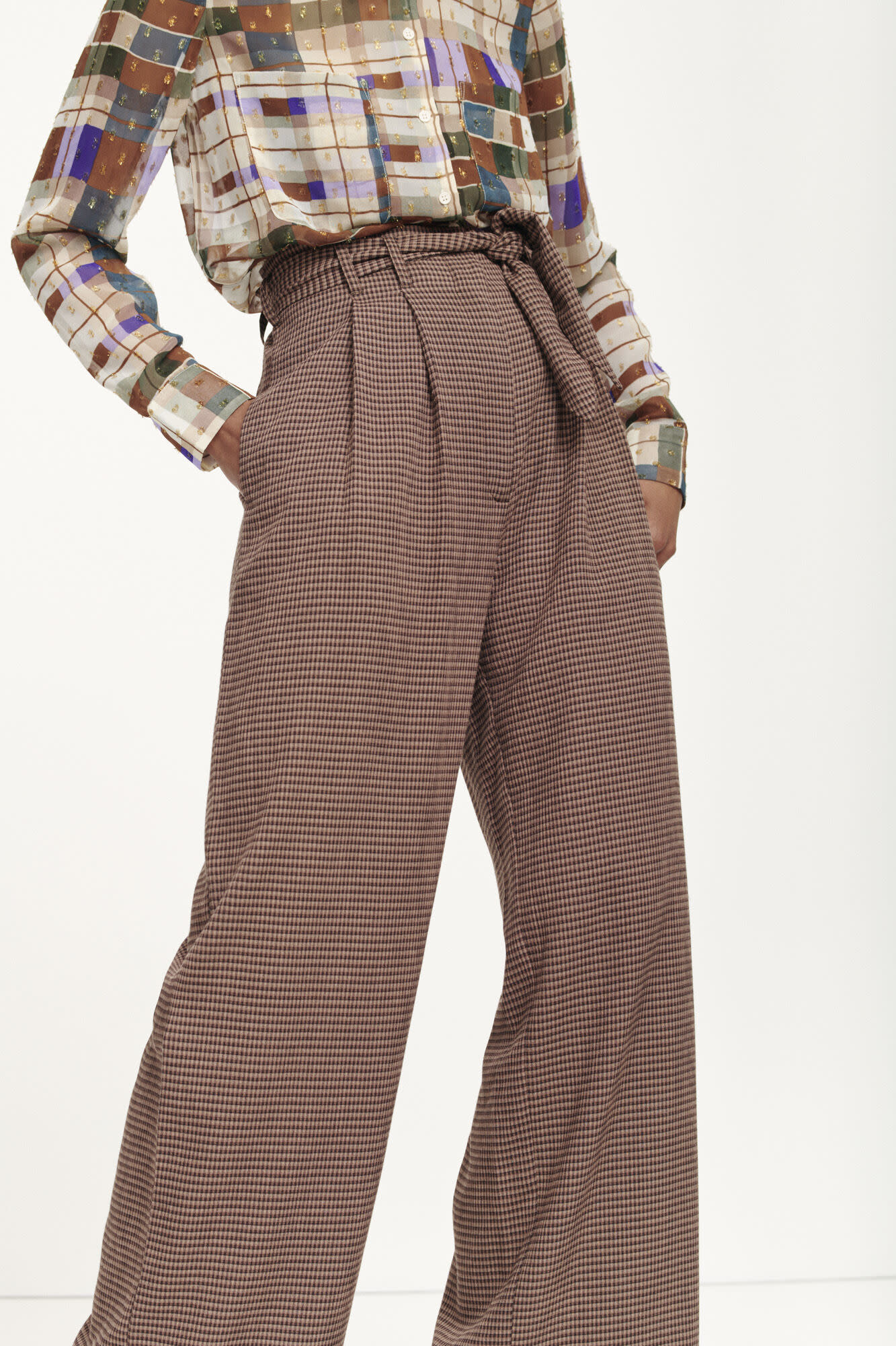 Nellie trousers argan check samsoe samsoe-5