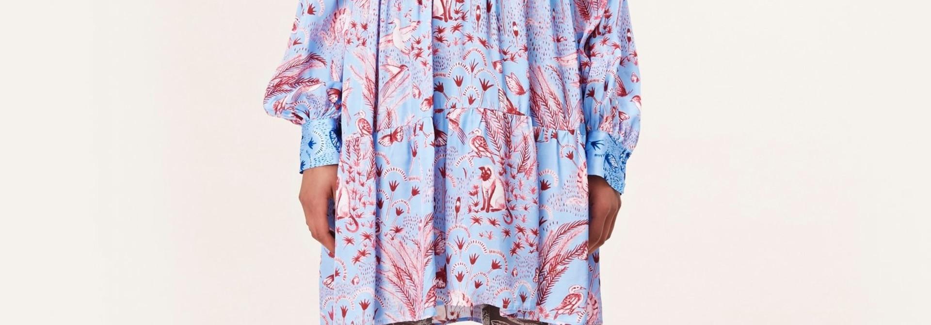 Jasmine Dress Stine Goya Jungle scène print