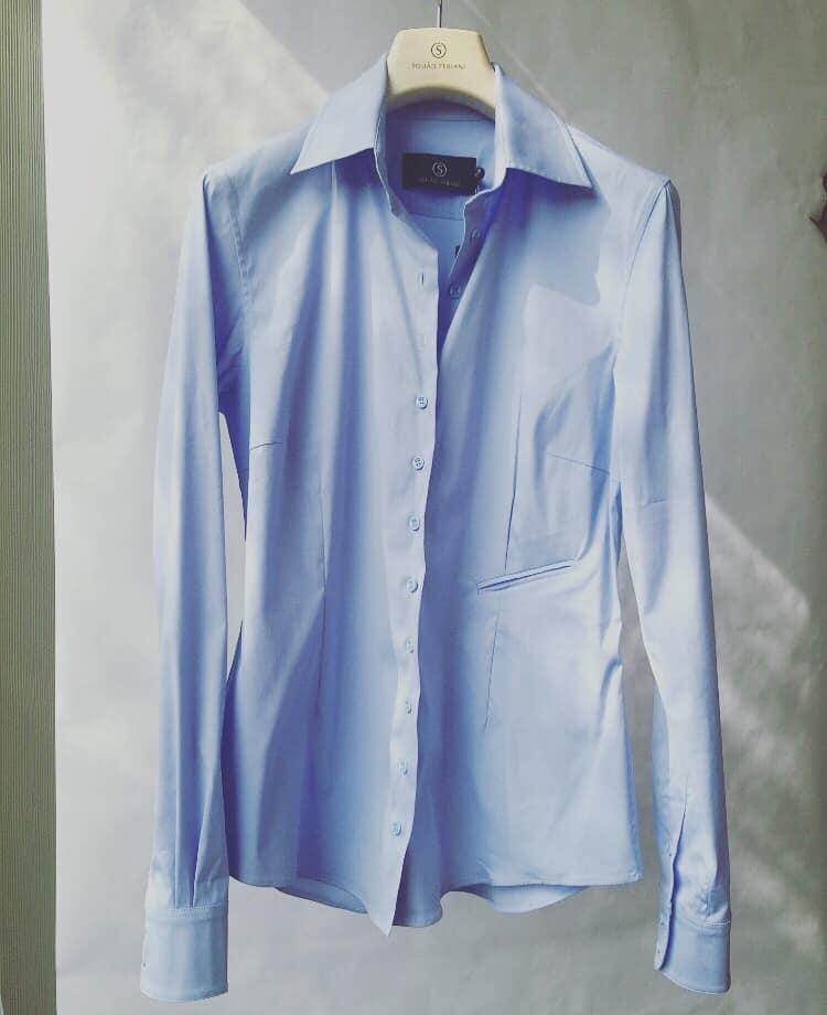 nina basic denim shirt-4