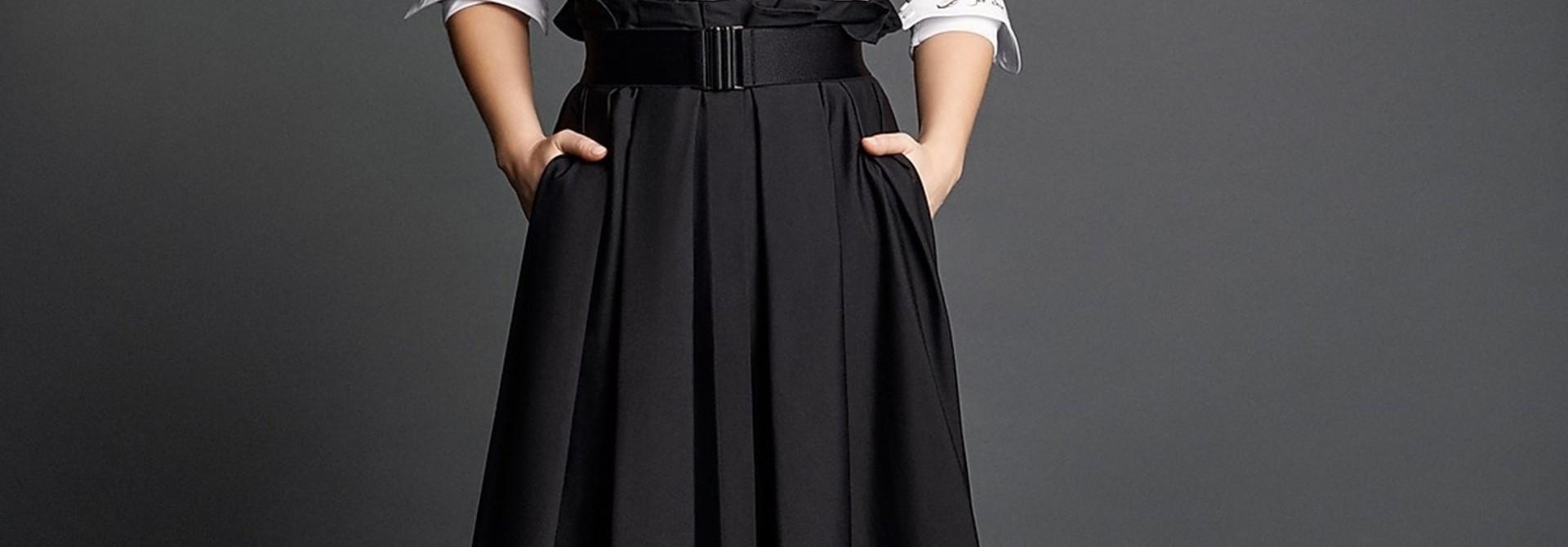 Audrey coton skirt Souäd Feriani