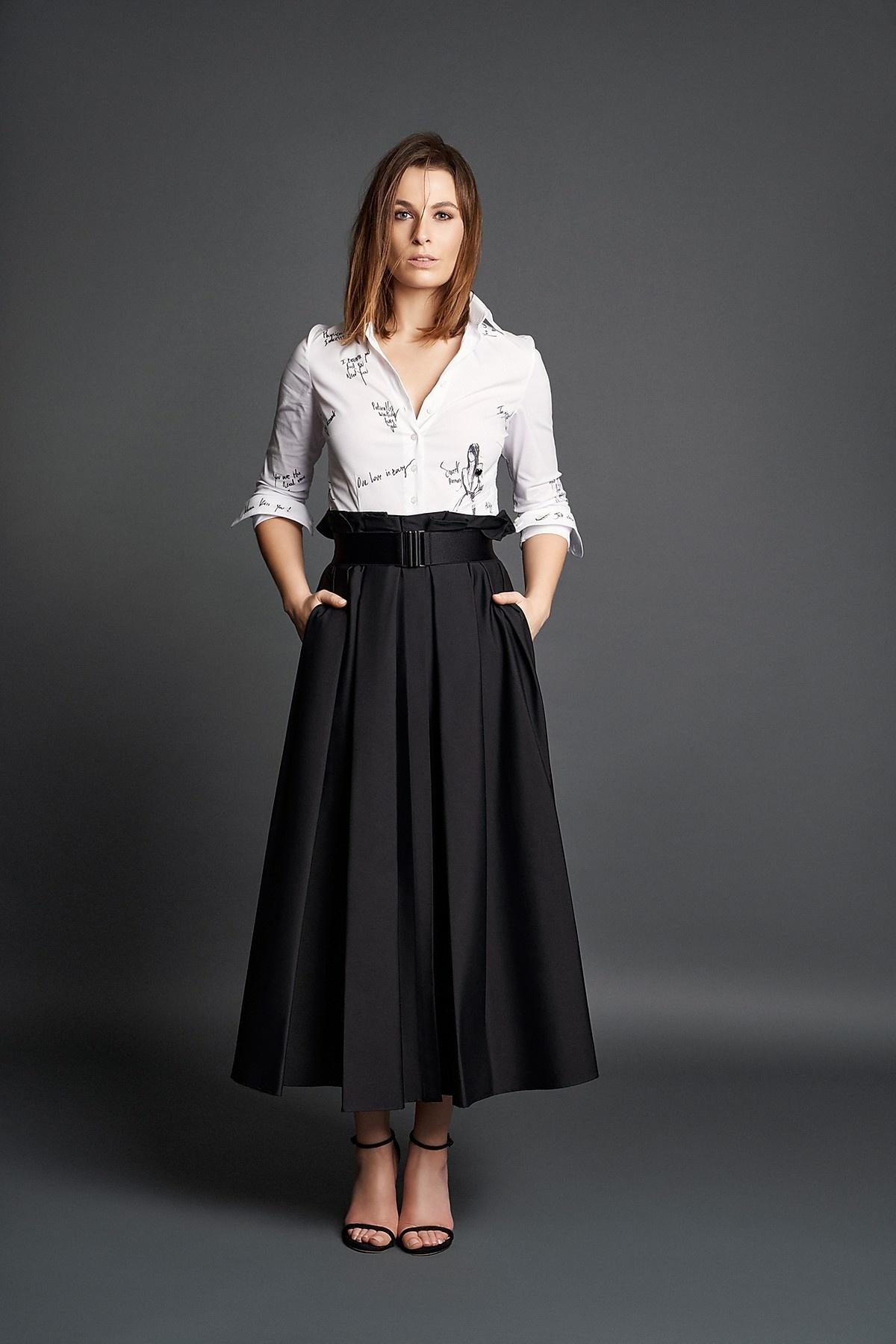 Audrey coton skirt Souäd Feriani-1