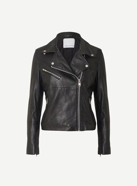 SAMSOE&SAMSOE tautou leather jacket samsoe samsoe