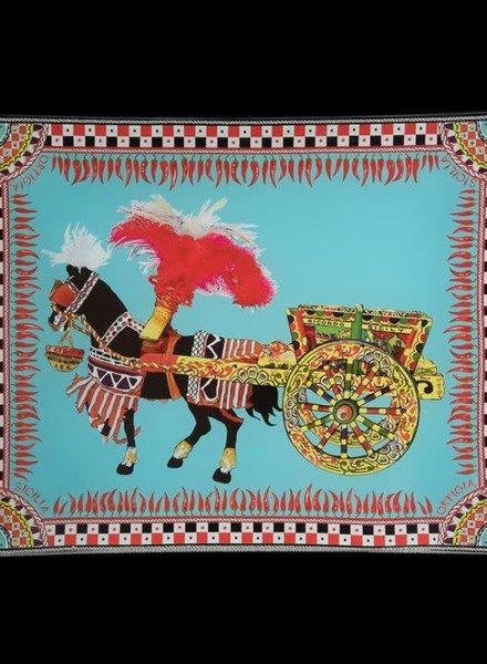 Ortigia Sicilia Ortigia Sicilia Piatto di vetro Carretto  25x20 cm