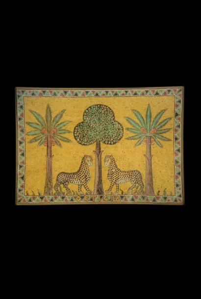 Ortigia Sicilia Piatto di vetro Zagara 23,5 x 16 cm