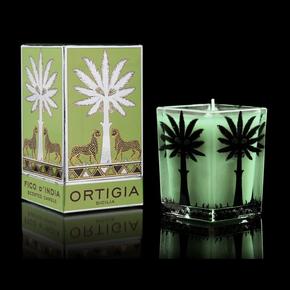 Ortigia Sicilia large square candle  fico d'india 9.5x7 cm