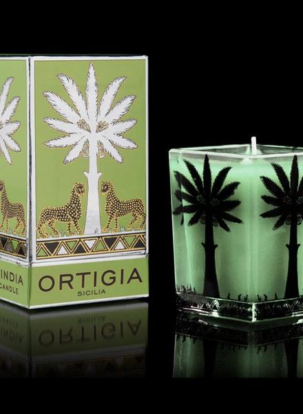 Ortigia Sicilia Ortigia Sicilia large square candle  fico d'india 9.5x7 cm