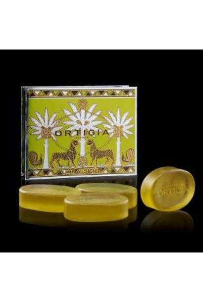 Ortigia Sicilia giftbox glycerine soap Lime 4x40 gr.