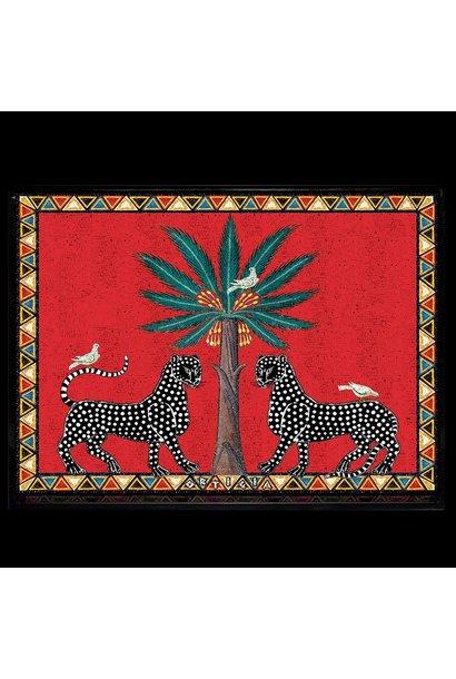 Ortigia Sicilia red mosaico tray large 38 x 28 x 3