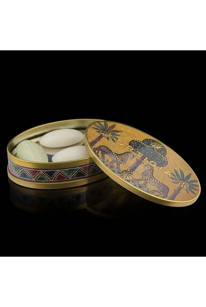 Ortigia Sicilia tin oval giftbox olive oil soap4 x 40 gr.